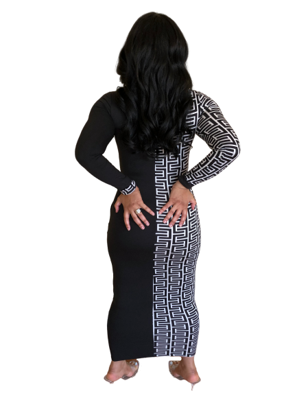 Yin Yang Bodycon Dress