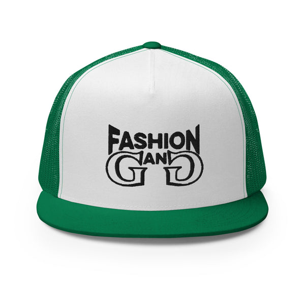 Fashion Gang Trucker Cap ( Black Letters )