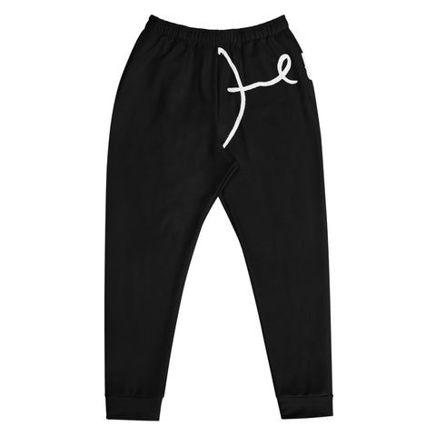 Black Men's Signature Track Pants