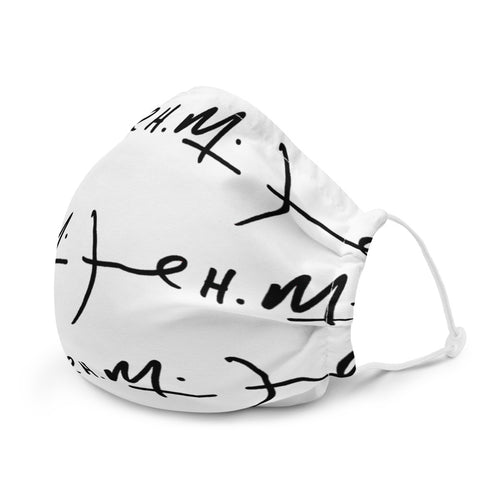 Signature Premium face mask ( White )