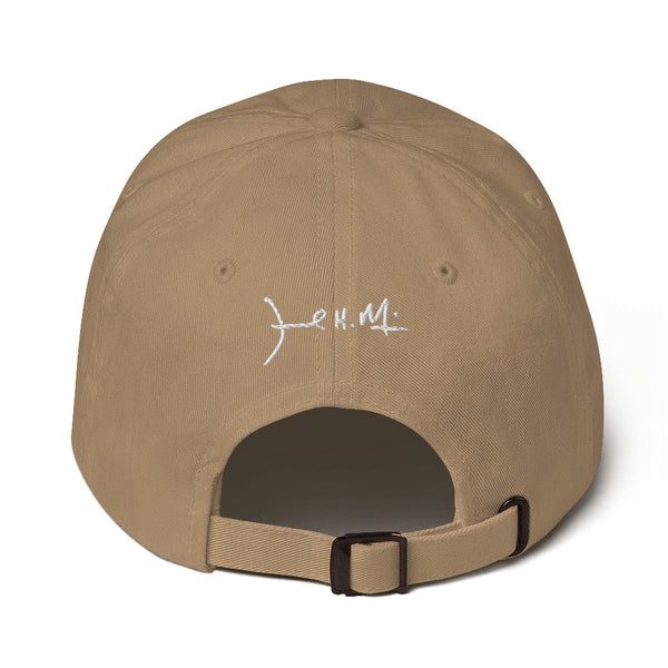 Lion Dad Hat White or Gold Logo