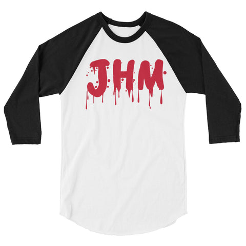 JHM Red Drip 3/4 sleeve raglan shirt