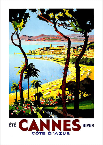 CANNES TRAVEL POSTER: Vintage Riviera Advert