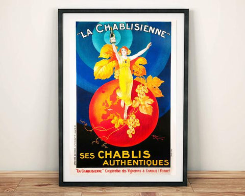 CHABLIS POSTER: Vintage French Wine Art Print