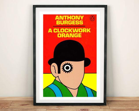 CLOCKWORK ORANGE PRINT: Affiche Vintage avec couverture d'art - Print Arcade USA