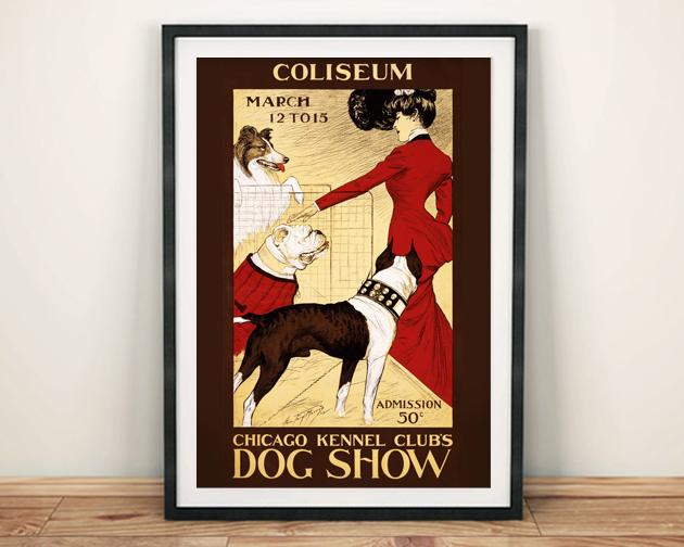 DOG SHOW POSTER: Kunstdruck im Vintage Kennel Club