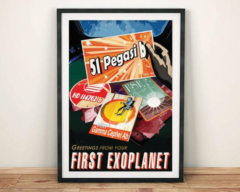FIRST EXOPLANET POSTER: NASA Space Planets Print - The Print Arcade