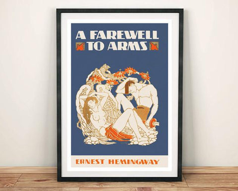 STAMPA DELLA COPERTINA: A Farewell to Arms Hemingway Art Poster