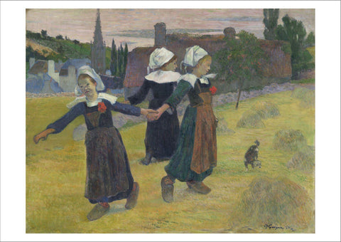 PAUL GAUGUIN: Breton Girls Dancing, Fine Art Print - Print Arcade USA