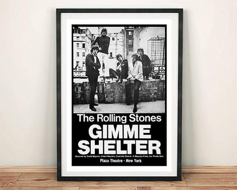 ROLLING STONES POSTER: Gimme Shelter Movie Art Print - The Print Arcade