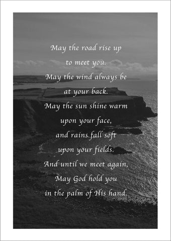IRISH BLESSING PRINT: 'May the Road Rise Up to Meet You' Artwork