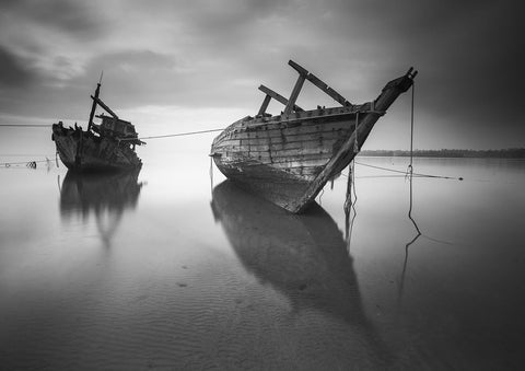 LOW TIDE: Black and White Photography Print