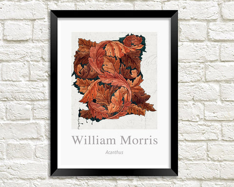 WILLIAM MORRIS ART PRINT: Acanthus Design Artwork