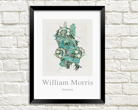 WILLIAM MORRIS ART PRINT: Anemone Design Artwork