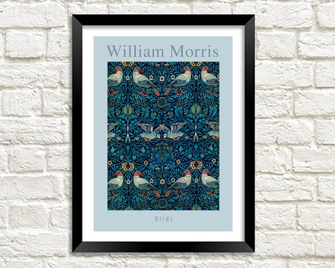 WILLIAM MORRIS ART PRINT: Birds Design Artwork