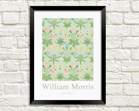 WILLIAM MORRIS ART PRINT: Daisy Pattern Design Artwork