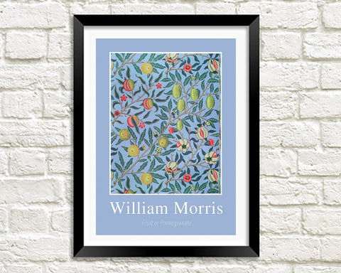 WILLIAM MORRIS ART PRINT: Fruit or Pomegranate Design Artwork