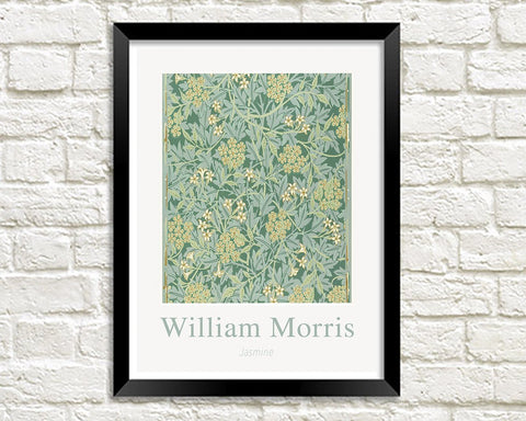 WILLIAM MORRIS ART PRINT: Jasmine Design Artwork