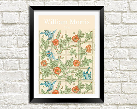 WILLIAM MORRIS ART PRINT: Trellis Pattern Design Artwork