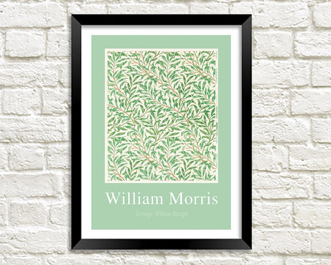 WILLIAM MORRIS ART PRINT: Vintage Willow Bough Pattern Design Artwork