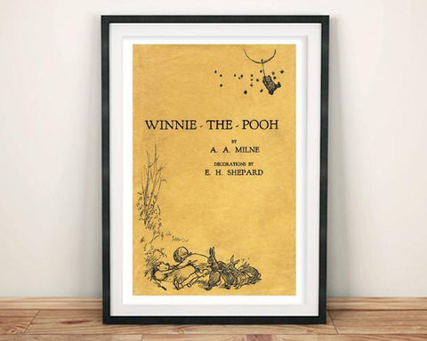 WINNIE THE POOH: Vintage Children's Book Cover Art Print - The Print Arcade