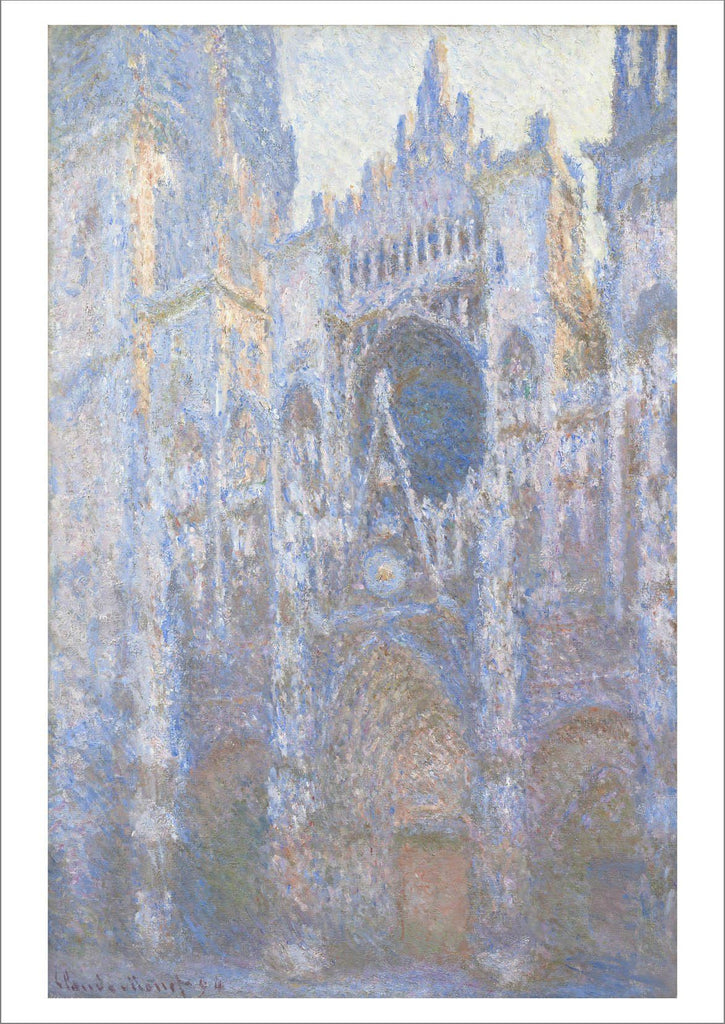 CLAUDE MONET: Rouen Cathedral, West Façade, Fine Art Print - The Print Arcade