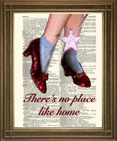 WIZARD OF OZ ART: No Place Like Home Dictionary Print