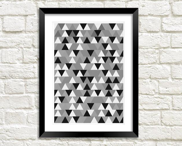 STAMPA GEOMETRICA: Triangles Art