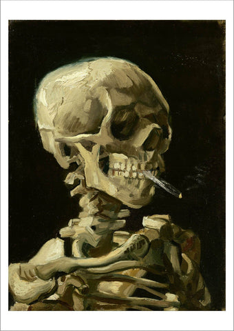 VINCENT VAN GOGH: Skeleton Smoking Cigarette, Fine Art Print - The Print Arcade