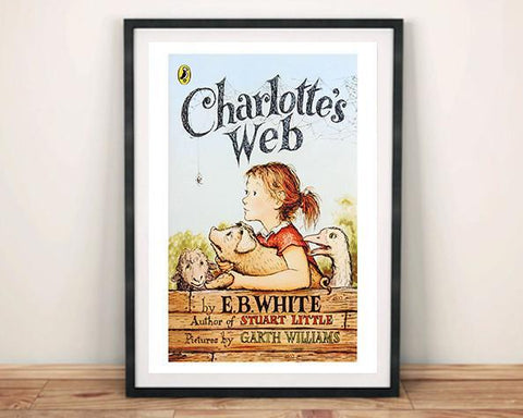 CHARLOTTE'S WEB: Vintage Children's Book Cover Art Print - Print Arcade USA