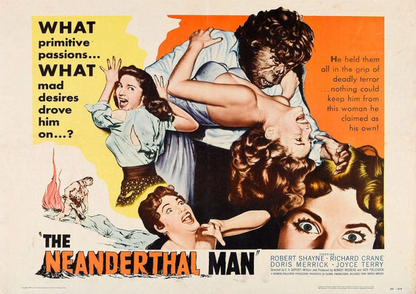 NEANDERTHAL MAN POSTER: Cult Movie Poster - The Print Arcade