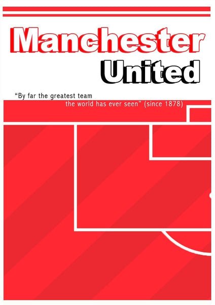 MANCHESTER UNITED POSTER: Football Fan Soccer Pitch Red Devils Lámina - Print Arcade USA