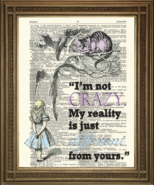 CHESHIRE CAT: Alice Dictionary Art Print - Print Arcade USA