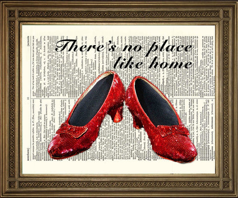DOROTHY RUBY SLIPPERS: Wizard of Oz Dictionary Art Print - Print Arcade USA