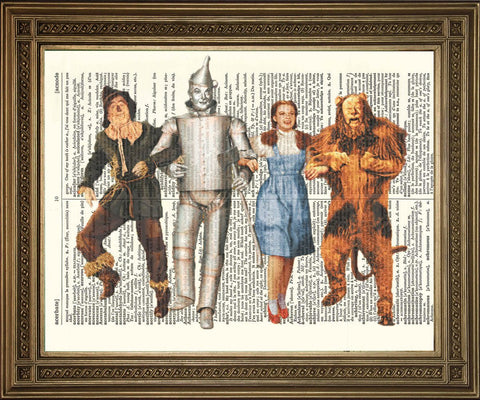 WIZARD OF OZ: Vintage Dictionary Print Artwork - Print Arcade USA