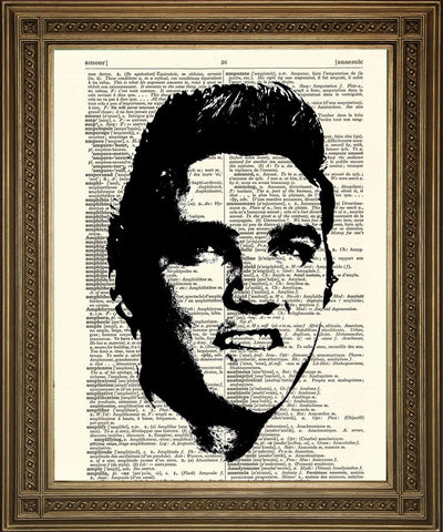 STAMPE FILM STELLE: Dictionary Art - Elvis, Marilyn, Audrey - Print Arcade USA