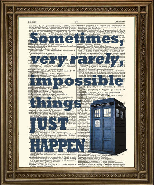 DOCTOR WHO TARDIS: Sci-fi Dictionary Print Wall Hangings - The Print Arcade
