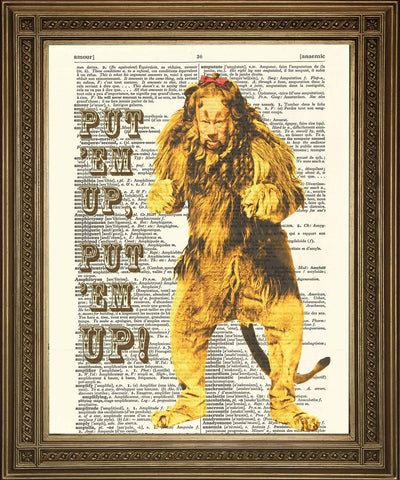 COWARDLY LION: Wizard of Oz Dictionary Stampa Art - Stampa Arcade USA