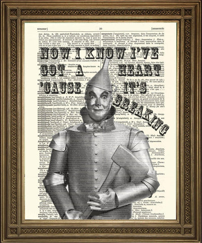 TIN MAN: Wizard of Oz Vintage Dictionary Art Print - Print Arcade USA