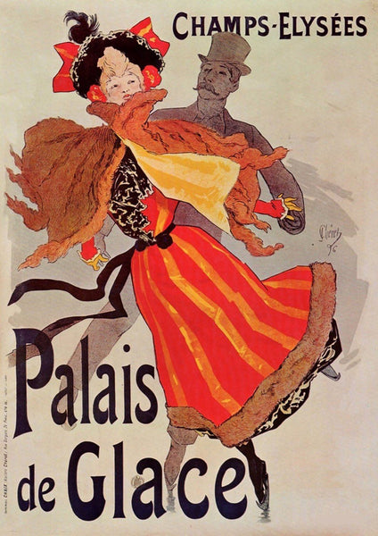 PALAIS de GLACE POSTER: Vintage French Advertisement Art Print - The Print Arcade
