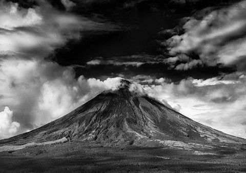 VOLCANO: Black and White Photography Print