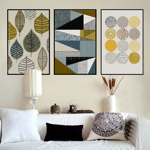 ABSTRACT CANVAS PRINTS: Geometric Retro-Style Wall Art - Print Arcade USA
