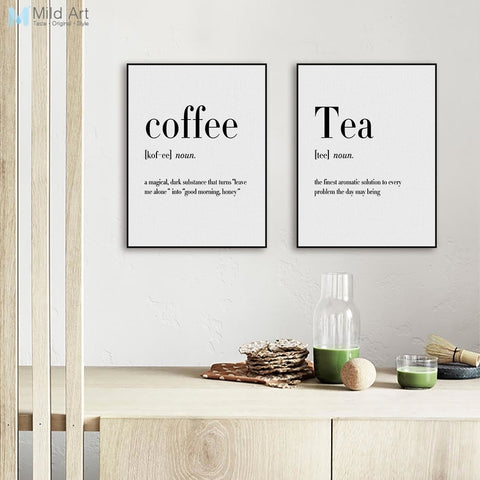WORD DEFINITION PRINTS: Minimalist Fun Canvas Wall Art - Print Arcade USA