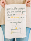 Gather Around Your Table Flour Sack Towel