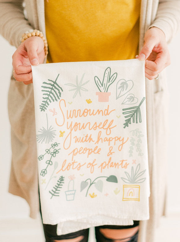 Happy People & Lots of Plants Flour Sack Towel