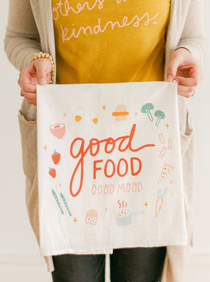Good Food Good Mood Flour Sack Towel