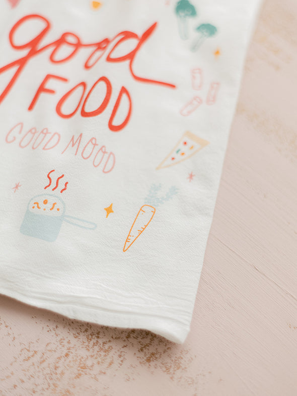 *NEW* Good Food Good Mood Flour Sack Towel