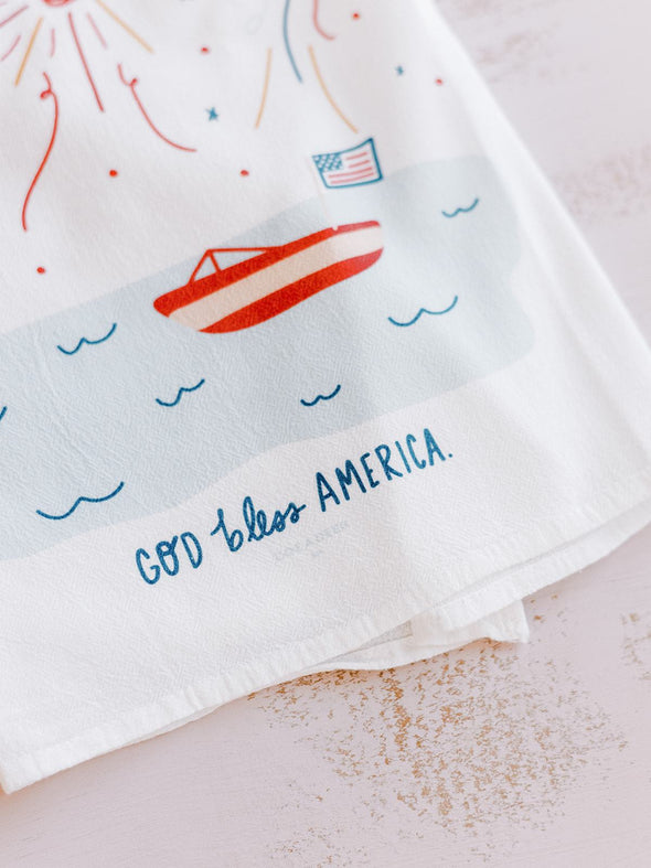 God Bless America Flour Sack Towel