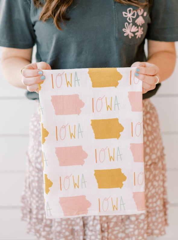 Iowa Full Pattern Flour Sack Towel