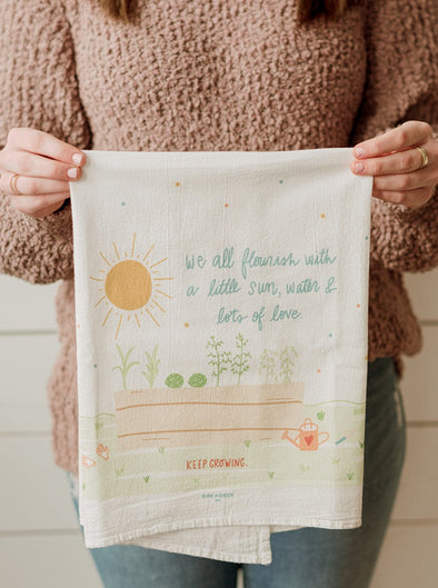 We All Flourish Flour Sack Towel